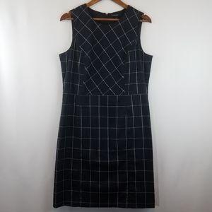 Land's End Black Stripe Sheath Dress